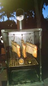 cold smoked bacon on 36 Lang BBQ Smoker Dexlue