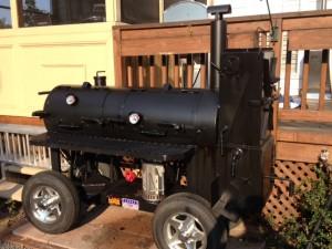 Douglas J. Morgan's Lang BBQ Smoker of Southern Q Sauces