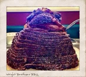 Double Smoked Ham BBQ smoker cooker